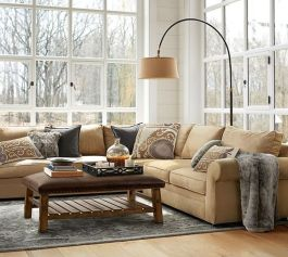 Totally Outstanding Sectional Sofa Decoration Ideas With Lamps 30