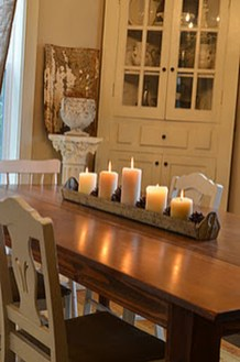 Romantic Christmas Centerpieces Ideas With Candles 43