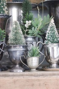 Totally White Vintage Christmas Decoration Ideas03