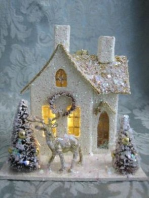 Totally White Vintage Christmas Decoration Ideas18