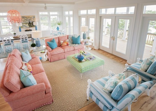 Bright And Colorful Living Room Design Ideas35