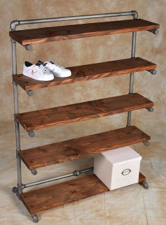 Creative Diy Industrial Shoe Rack Ideas 17