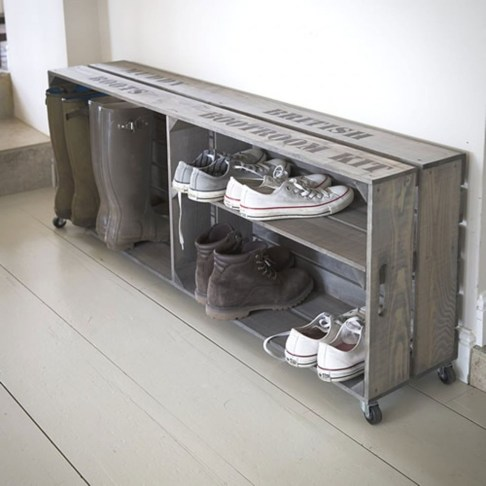 Creative Diy Industrial Shoe Rack Ideas 24