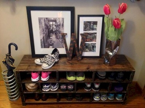 Creative Diy Industrial Shoe Rack Ideas 26