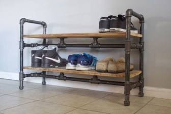 Creative Diy Industrial Shoe Rack Ideas 28