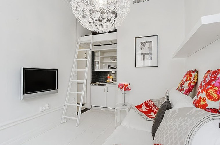 Totally Cool Tiny Apartment Loft Space Ideas 05