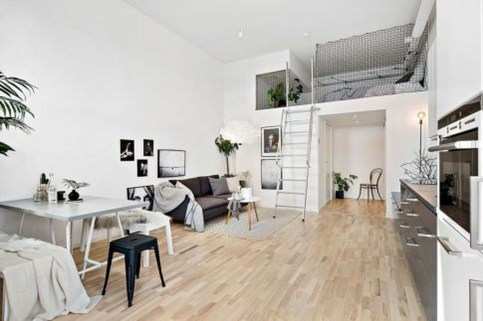 Totally Cool Tiny Apartment Loft Space Ideas 28