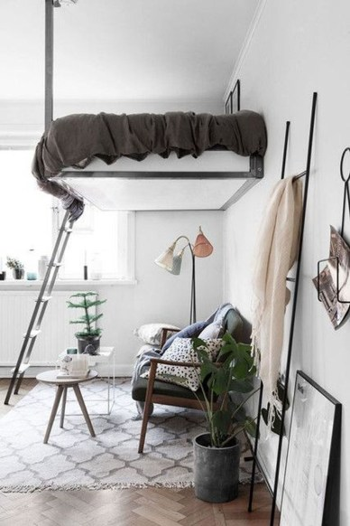 Totally Cool Tiny Apartment Loft Space Ideas 35