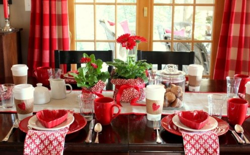 Best Ideas Decorate Dining Room Table Valentines 01
