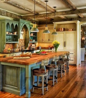 Stylish Rustic Kitchen Apartment Decoration Ideas 08
