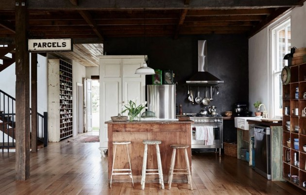 Stylish Rustic Kitchen Apartment Decoration Ideas 33