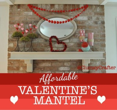 Totally Cool Valentine Mantel Decoration Ideas 05