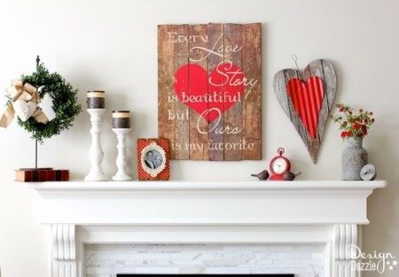 Totally Cool Valentine Mantel Decoration Ideas 17
