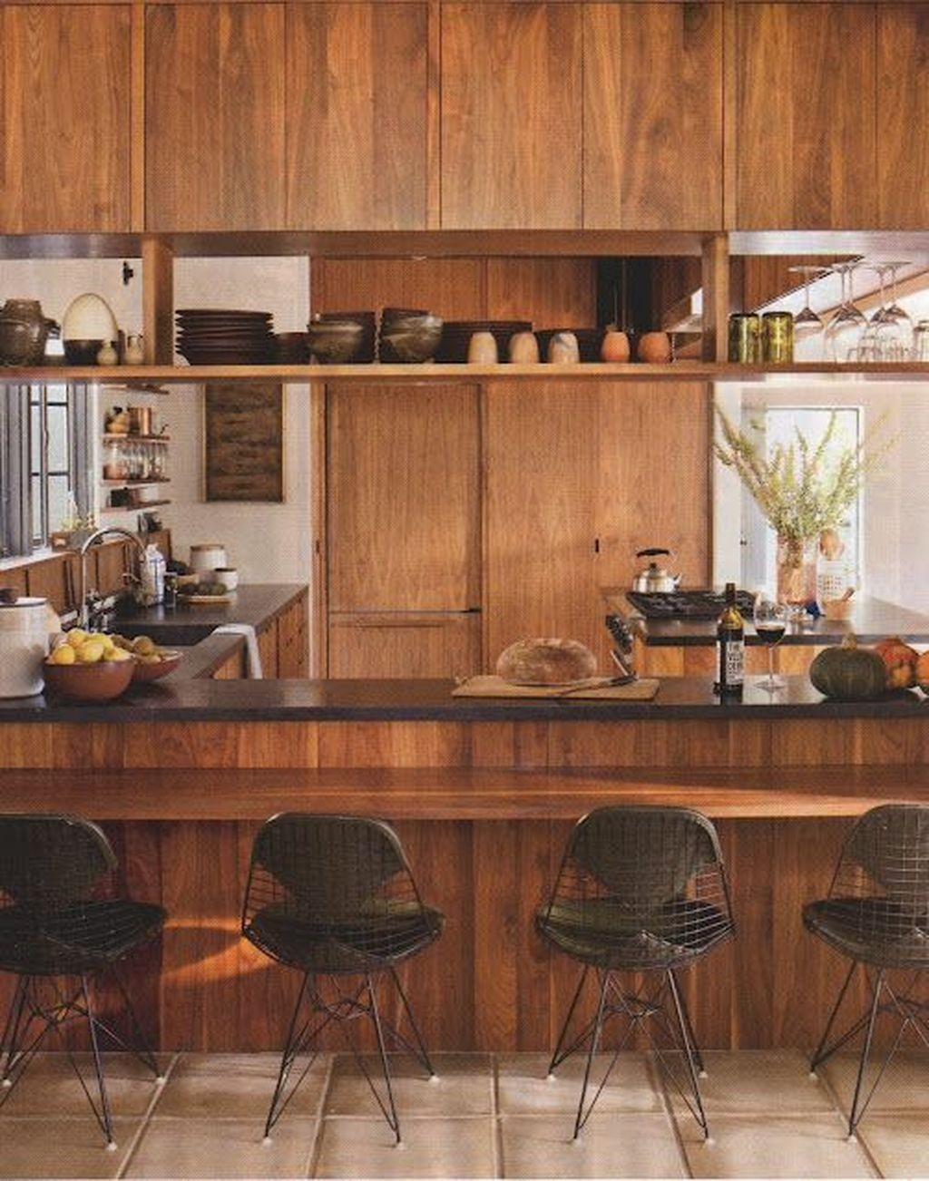 Cool Modern Mid Century Kitchen Decoration Ideas 07