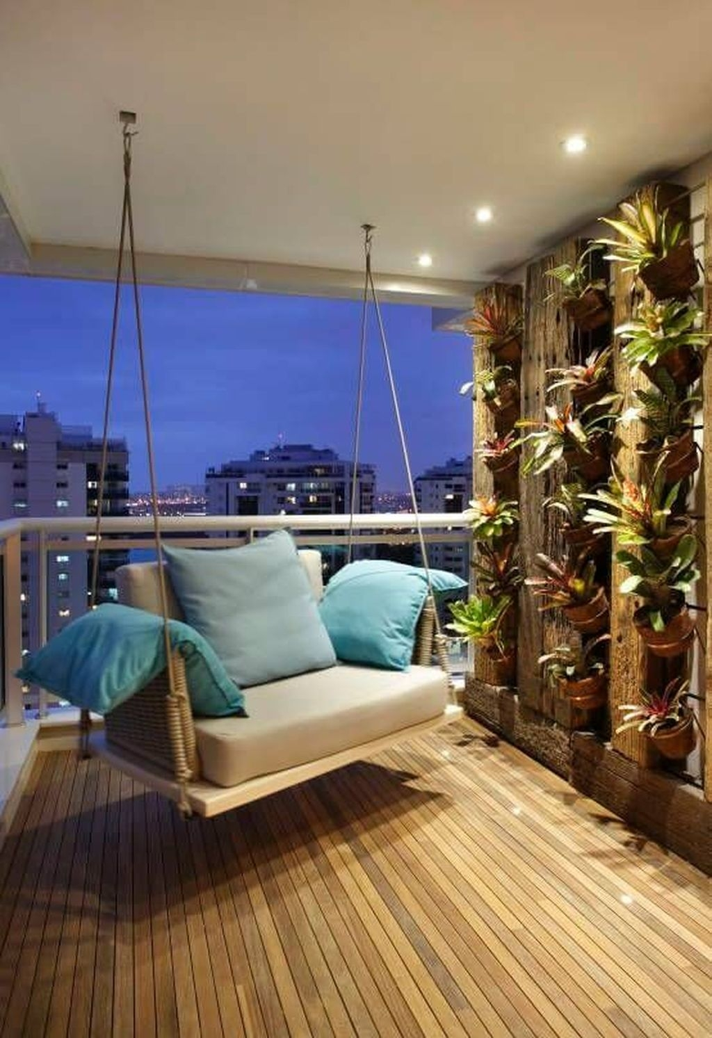 Cozy Apartment Balcony Decorating Ideas 46