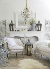 Cute Shabby Chic Farmhouse Living Room Decor Ideas 09