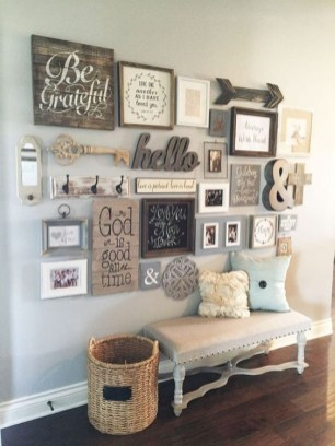 Cute Shabby Chic Farmhouse Living Room Decor Ideas 25