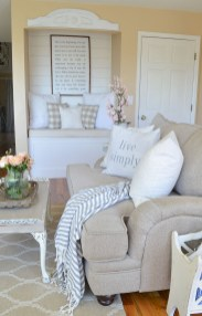 Cute Shabby Chic Farmhouse Living Room Decor Ideas 39