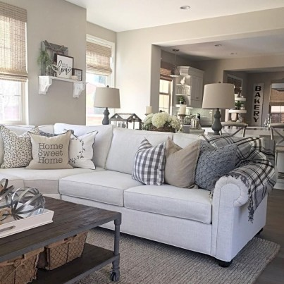 Modern Farmhouse Living Room Decoration Ideas 07