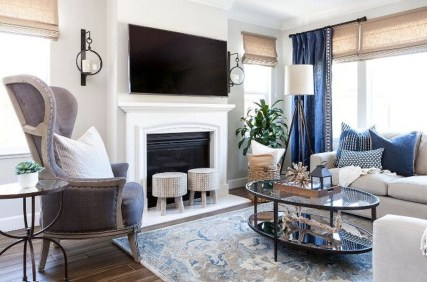 Gorgeous White And Blue Living Room Ideas For Modern Home 07