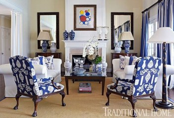 Gorgeous White And Blue Living Room Ideas For Modern Home 09