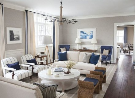 Gorgeous White And Blue Living Room Ideas For Modern Home 31