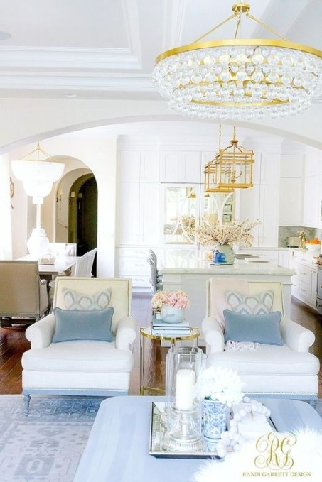 Gorgeous White And Blue Living Room Ideas For Modern Home 41
