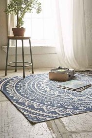 Romantic Floral Printed Rug Ideas To Beautify Your Floor05