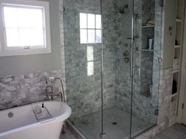 Elegant Farmhouse Shower Tiles Design Ideas28