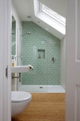 Elegant Farmhouse Shower Tiles Design Ideas41