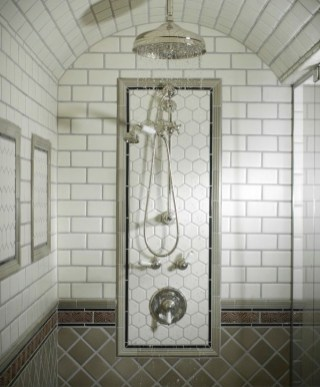 Elegant Farmhouse Shower Tiles Design Ideas44