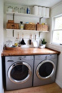 Popular Farmhouse Laundry Room Decorating Ideas30