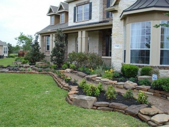 Pretty Front Yard Rock Garden And Landscaping Ideas10