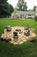 Pretty Front Yard Rock Garden And Landscaping Ideas14