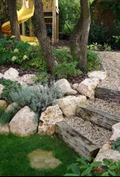 Pretty Front Yard Rock Garden And Landscaping Ideas31