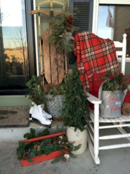 Lovely Christmas Porch Makeover Ideas43