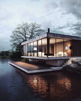 Attractive Lake House Home Design Ideas13