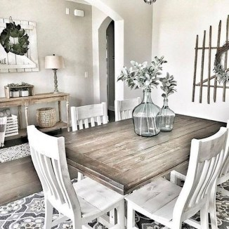Cute Farmhouse Dining Room Table Ideas38
