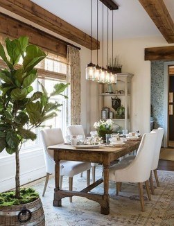 Cute Farmhouse Dining Room Table Ideas41