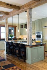 Amazing Living Rooms Design Ideas With Exposed Wooden Beams 15