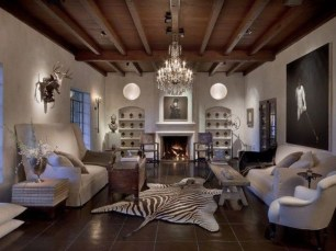 Amazing Living Rooms Design Ideas With Exposed Wooden Beams 29