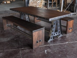 Beautiful Industrial Furniture Design Ideas With Wood 01