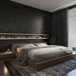 Elegant Platform Bed Design Ideas15