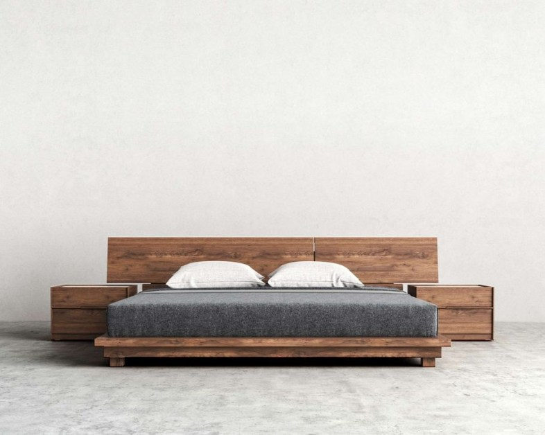 Elegant Platform Bed Design Ideas30