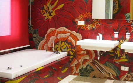 Catchy Bathroom Mosaics Design Ideas 08