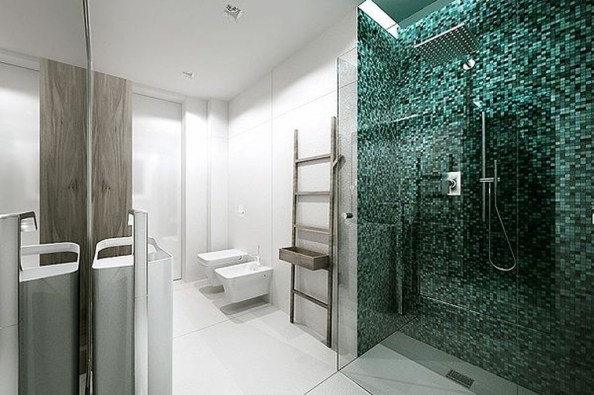 Catchy Bathroom Mosaics Design Ideas 32