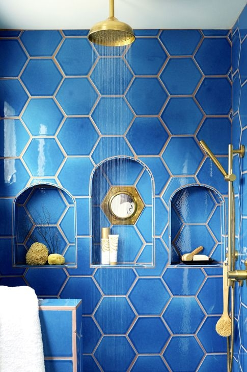 Catchy Bathroom Mosaics Design Ideas 34