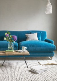 Enchanting Turquoise Living Room Ideas 27