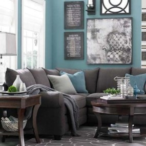 Enchanting Turquoise Living Room Ideas 44