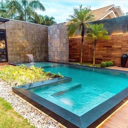 Comfy Backyard Designs Ideas With Swimming Pool Looks Cool 12